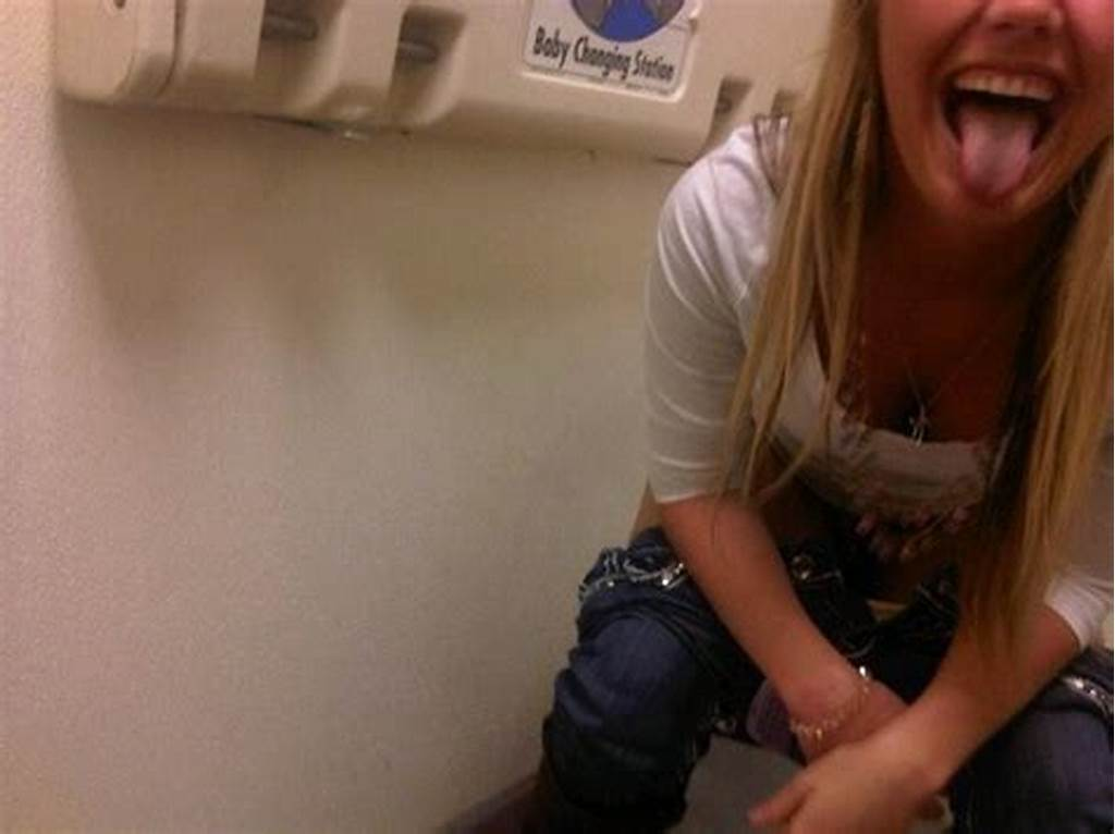#College #Girl #Peeing #On #Toilet