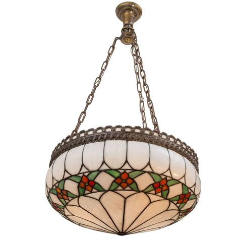 stained glass inverted pendant light leaded glass inverted pendant chandelier for sale at 1stdibs