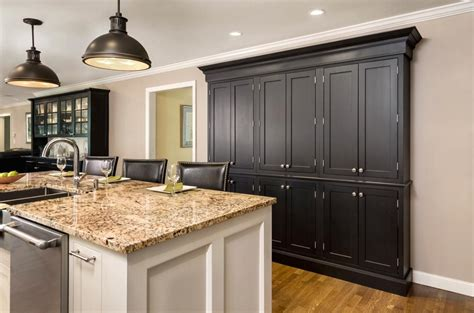 Kitchen Cabinets Organization Blog by Use Semi Custom Cabinets To Create Cabinet Buffet Or Pantry