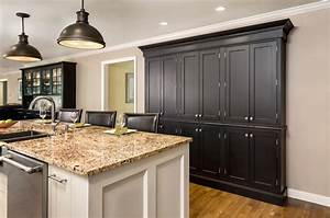 use semi custom cabinets to create cabinet buffet or pantry With what kind of paint to use on kitchen cabinets for x large wall art