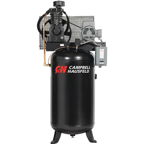 cbell hausfeld two stage air compressor 5 hp 16 6 cfm 175 psi 230 volt single phase