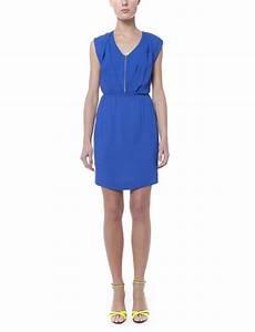 robe rebellion bleu electrique robes sans manches sandro With robe bleu electrique zara