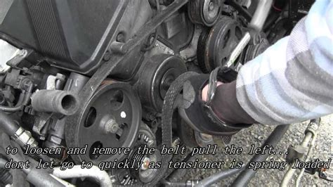 change  serpentine belt youtube
