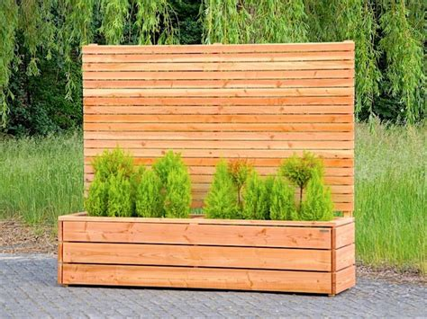 Sichtschutz Holz Mit Blumenkasten Bvraocom