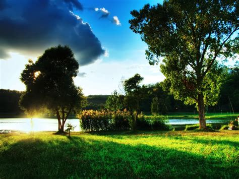 beautiful summer day landscape wallpaper  hd