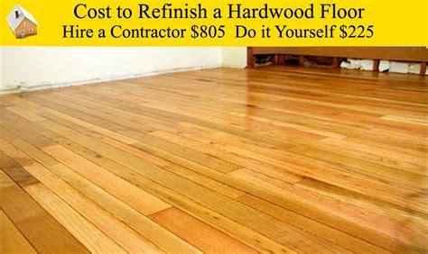 Cost To Refinish A Hardwood Floor Youtube