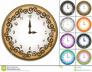 Amazing Wall Clock Decorated With Ornate Pattern Stock ...