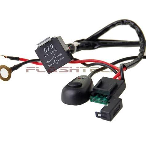 flashtech 40 led light bar wiring kit harness relay on