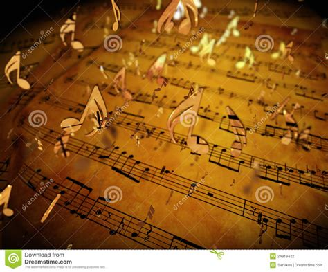 golden musical notes stock photography image