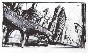 Destroyed City thumbnail sketch by Sombot on DeviantArt