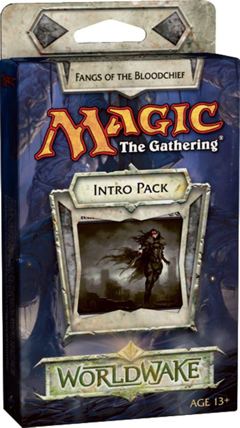 mtg intro decks worldwake intro pack deck mono sort black fangs of