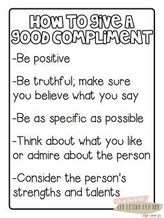 examples  compliment poem chart images examples