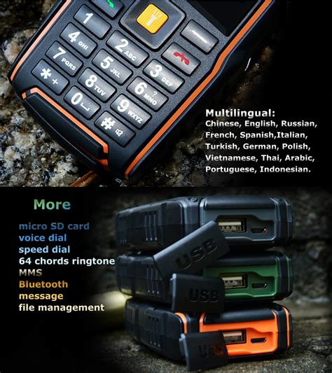 ip67 mobile cell phones smartphones v3 5200mah ip67