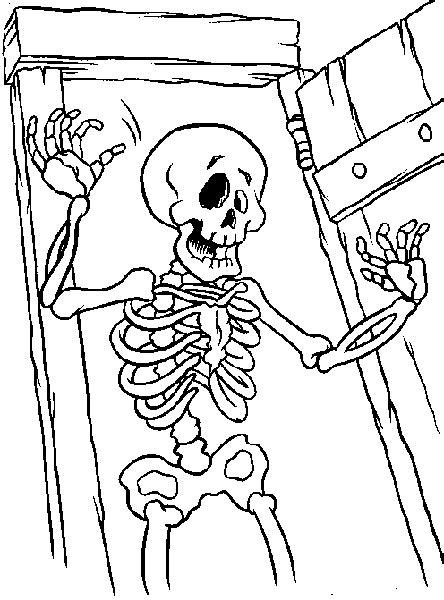 halloween coloring page skeleton  kids network