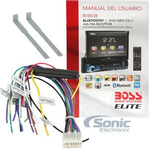 Bos Radio Wiring Harnes by Elite Bv860b Single Din Motorized Bluetooth In Dash