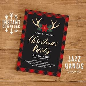 Free Editable Christmas Party Invitations Christmas Party Invitation Template Diy Printable Holiday