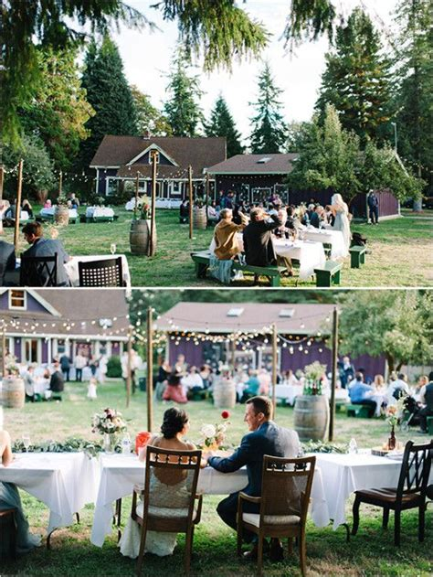 Wedding Reception In Backyard by Best 25 Backyard Wedding Receptions Ideas On