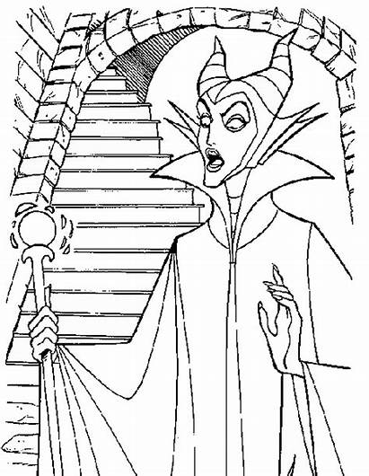 Coloring Sleeping Beauty Maleficent Pages Printable Disney