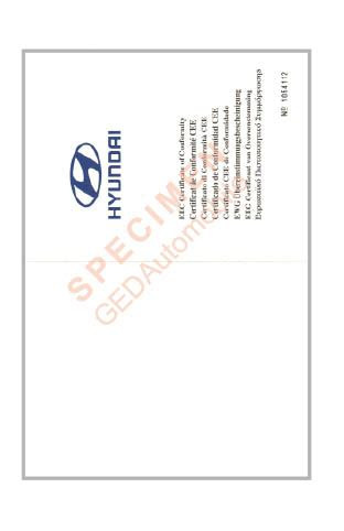 certificat de conformite hyundai
