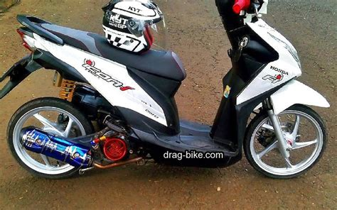 Foto Modification Motor Beat by Modifikasi Motor Beat Fi Velg 14 Semut Modifikasi