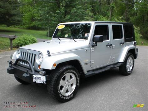 jeep sahara silver 2008 jeep wrangler unlimited sahara 4x4 in bright silver