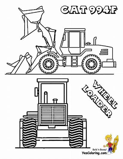 Coloring Pages Loader Skid Steer Farm Construction
