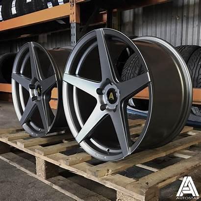 Staggered Wheels Autostar 19x9 Chicane 5x120 Et35