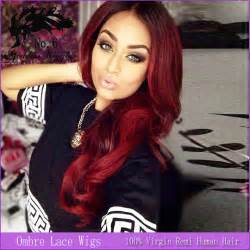 Red Ombre Hair Black Woman