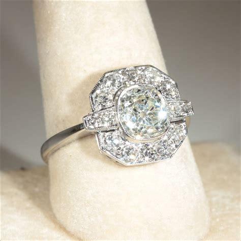 vintage deco ring wedding promise