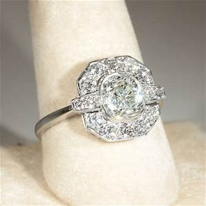 art deco engagement rings antique wedding promise With deco wedding ring