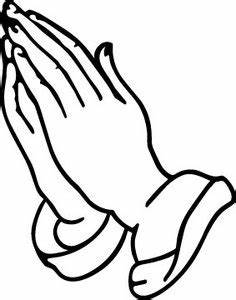 An outline of praying hands can be used in different types ...