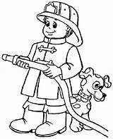 Coloring Behind Dog Fireman Hide sketch template