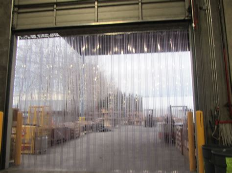 vinyl door curtain 96 quot x 84 quot standard smooth clear