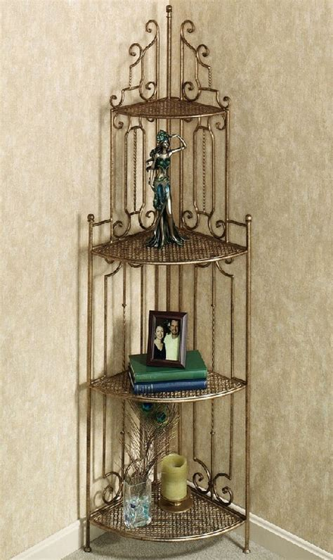 Wrought Iron Corner Etagere by Best Corner Shelves Hometone Home Automation And Smart