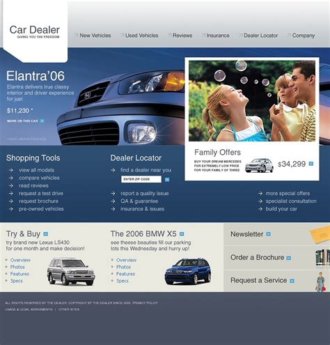New Car Websites by Car Dealer Website Template 9536
