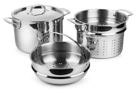 viking tri ply stainless steel multi pot  quart cutlery