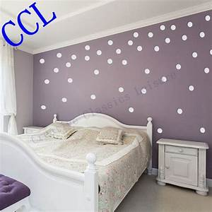 Polka circles wall decor : Free shipping polka dot wall stickers home decor