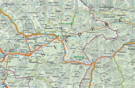 wegenkaart landkaart  salzburg stiermarken karinthie anwb media