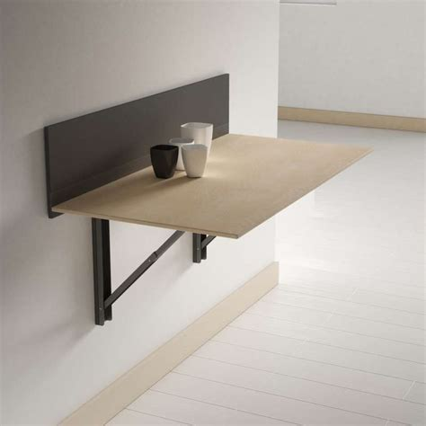 table de cuisine murale rabattable table pliante murale contemporaine click 4 pieds