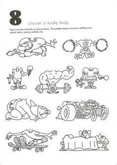 page cartoon head pieces   kids  trace