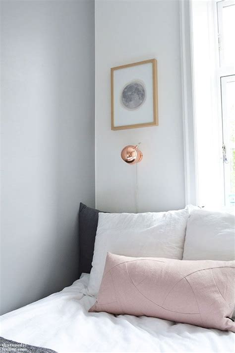 white grey and copper bedroom grey walls copper and