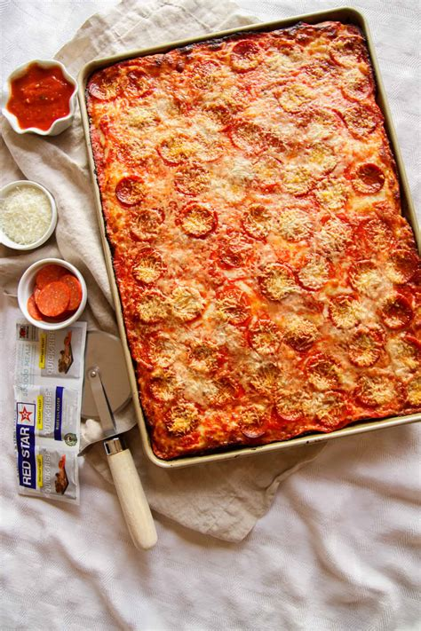 pizza pan sheet recipe easy sweetphi square dough recipes yeast surprisingly absolutely loved came together star