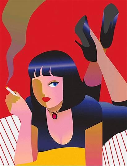 Moon Gifs Animated Minji Illustrations Pulp Fiction