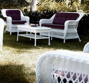 Salon De Jardin Blanc : fauteuil de jardin en r sine blanc brin d 39 ouest ~ Teatrodelosmanantiales.com Idées de Décoration