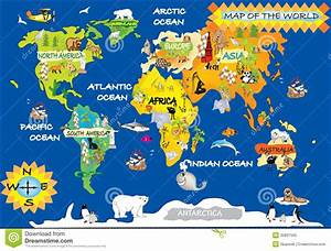 World Map For Kids With - roundtripticket.me