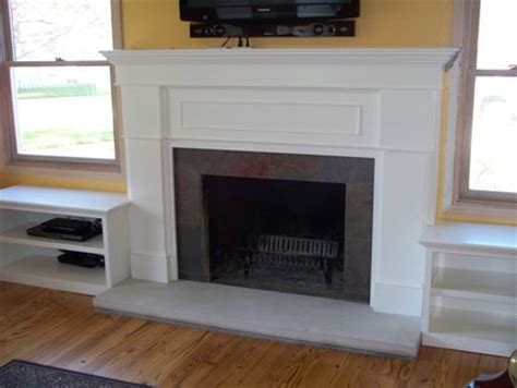 fireplace side shelves fireplace surround with side shelves by garyl