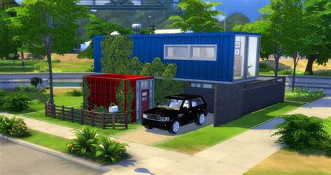 sims  building challenge container house sims
