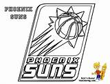 Basketball Printables Nba Phoenix Suns Bounce Coloring Sports League Yescoloring sketch template