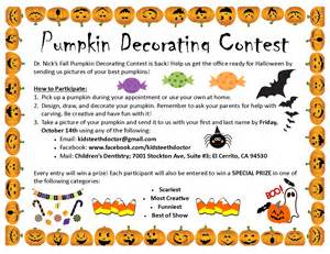 Pumpkin Decorating Contest Rules by Pumpkin Decorating Contest Children S Dentistry