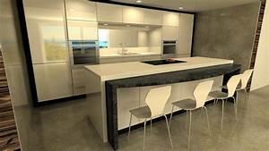 Cuisine Avec Ilot : cuisine avec ilot encastrable ack cuisines ~ Melissatoandfro.com Idées de Décoration
